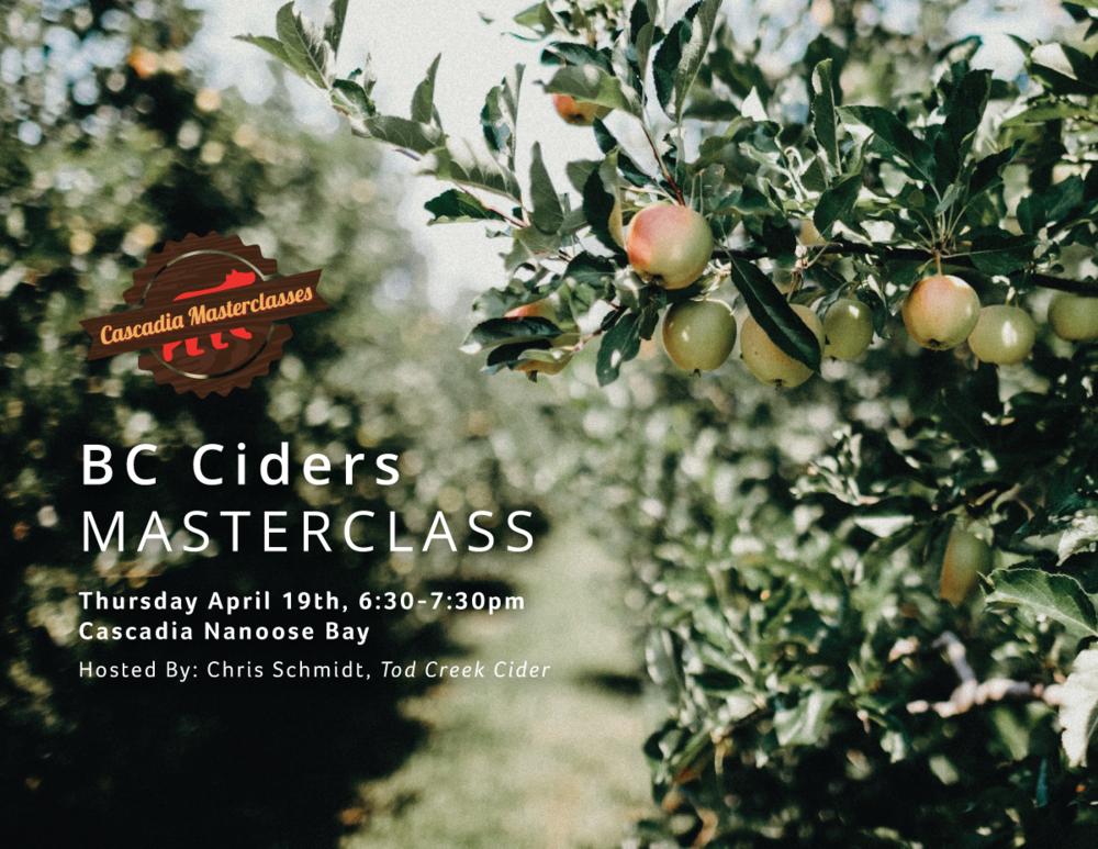 Nanoose masterclass, BC Ciders