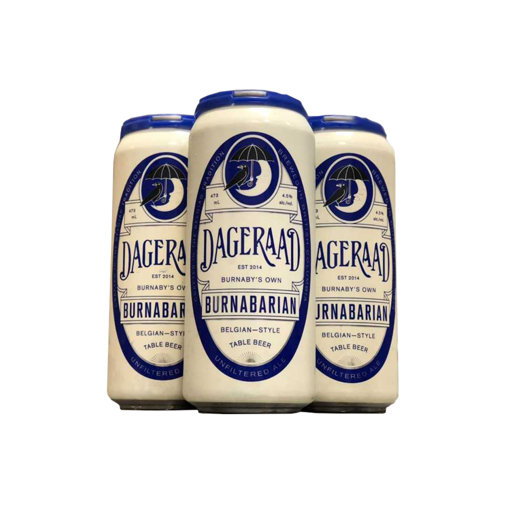 Dageraad BrewingBurnabarian Belgian Style Session Ale - Lightly spiced with coriander. Brewed  with oats, silky mouthfeel$13.49, 4x473mlVancouver, BC