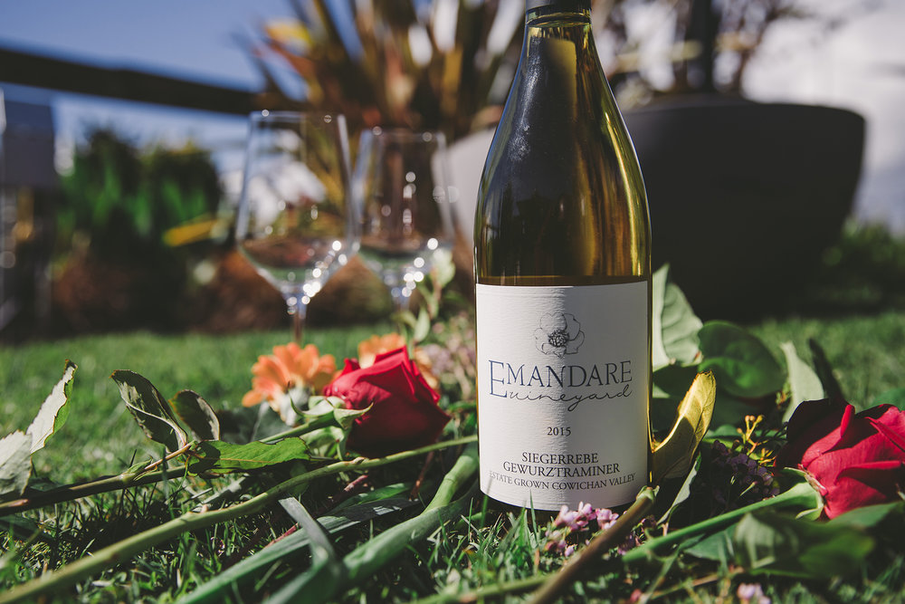Emandare Siegerrebe Gewurztraminer - A local favourite that evokes aromas of wildflowers and meadows. A pleasing textural mouthfeel and refreshing finish.$23.49 (750ml)Cowichan Valley