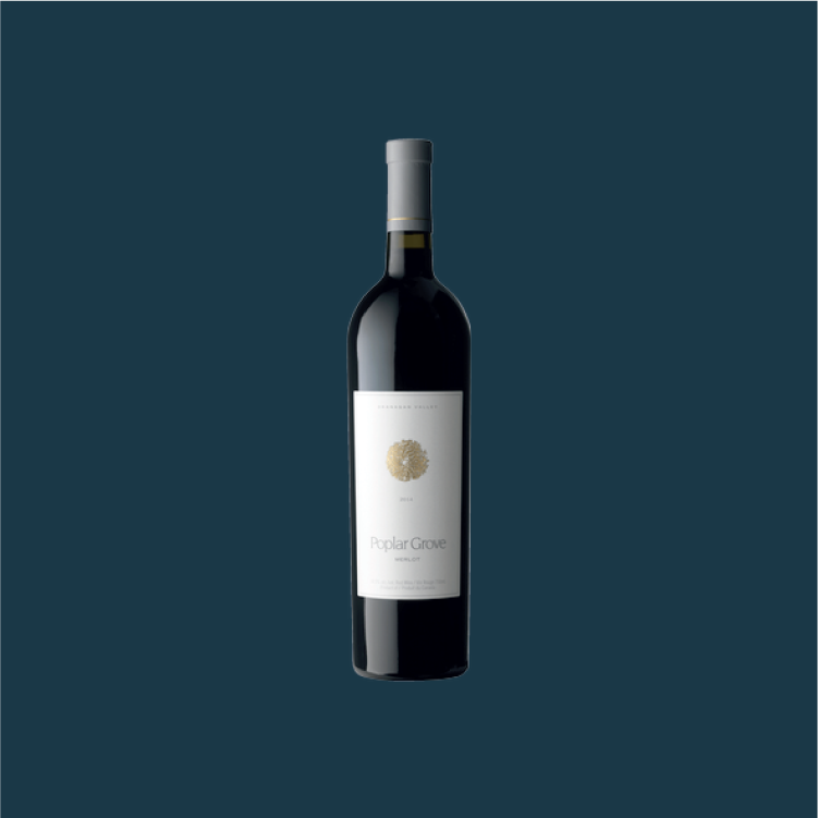 Poplar Grove Merlot - Classically Okanagan with velvety tannins + notes of sage & cherry notes.750 ml, $33.49