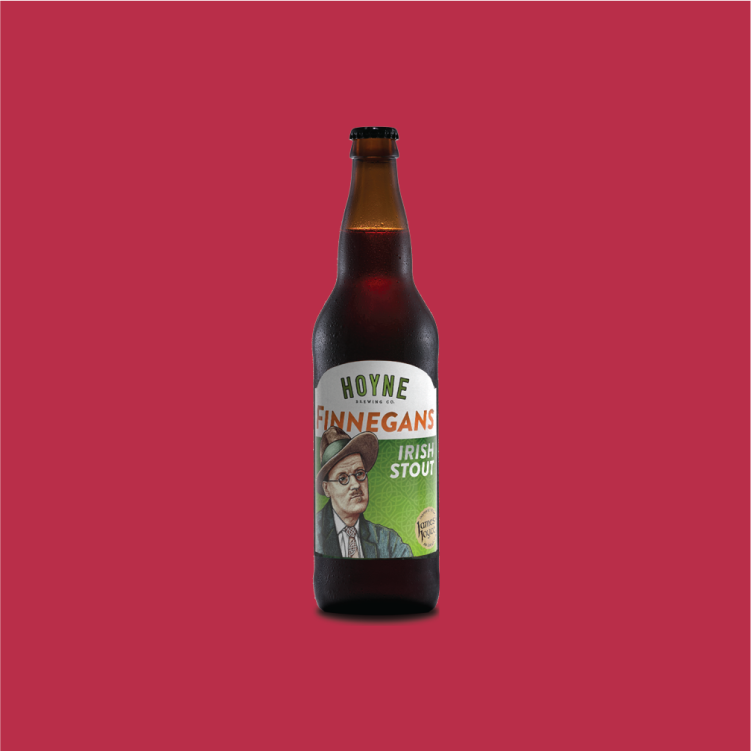 Hoyne Brewing Finnegans Irish Stout - Rich and robust with coffee and chocolate flavours.$6.29, 650 mlVictoria, BC