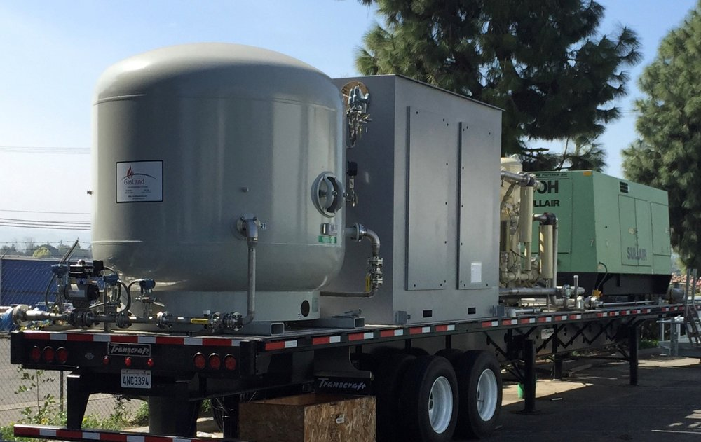 Gas Land's Mobile Nitrogen Compression, Generation, & Storage Package