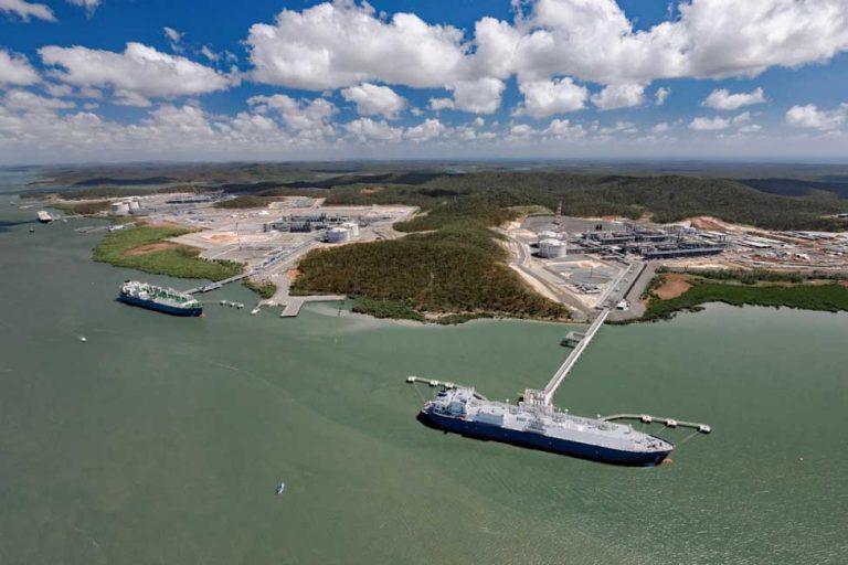 Curtis Island LNG Plants  Image Courtesy: Bechtel