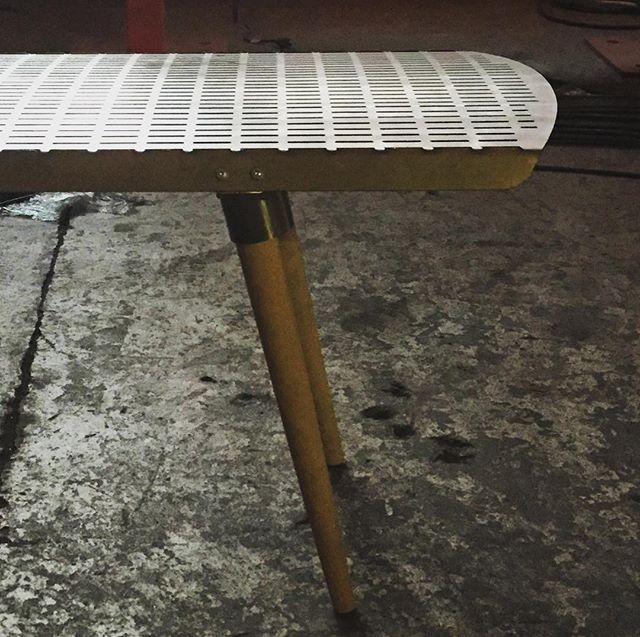 New collection coming over #bench #steel #modern #furnituredesign #madeincanada #madeinmontreal