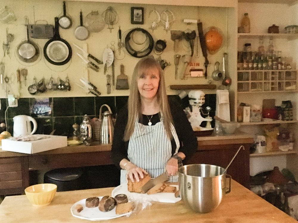 janice in Julia's kitchen