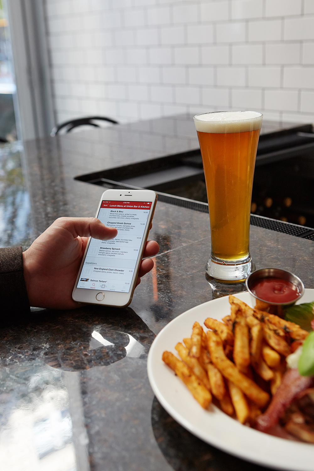 "Marek Raczkiewicz, now in charge of updating menus at Union Bar and Kitchen, says, ""The fact that we have SinglePlatform makes life a lot easier. This helps us be consistent."""