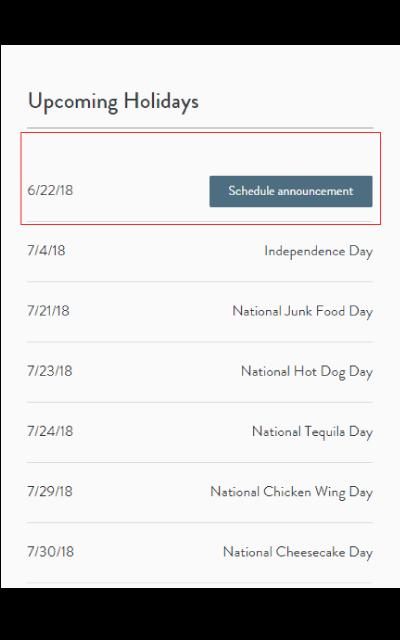 schedule announcement