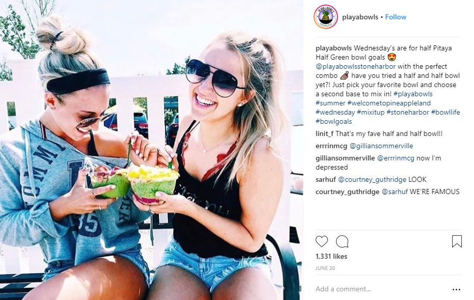 playa bowls social media example