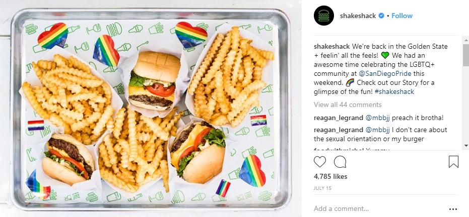 shake shack social media for a cause