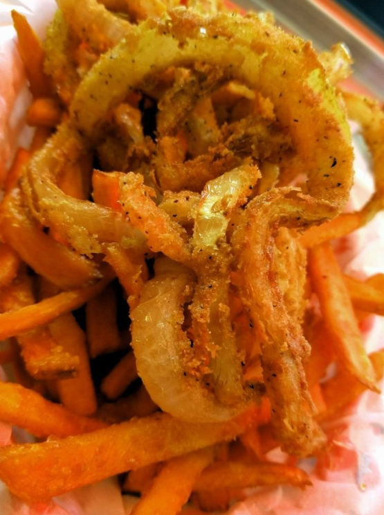 Frings made with Pearl's sweet potato fries via  TripAdvisor  user magnoliaeleven