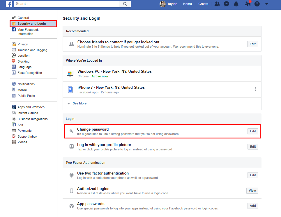 Securing Your Facebook Profile — SinglePlatform