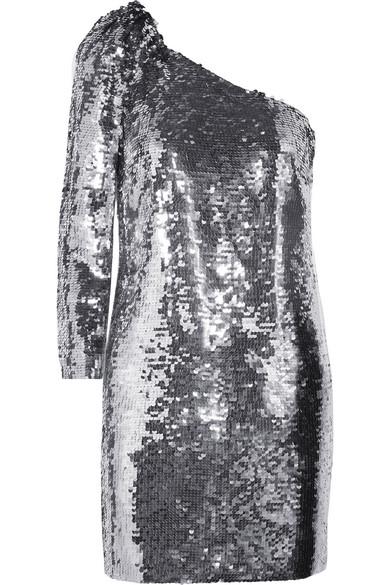 VERONICA BEARD Atlantis one-shoulder sequined chiffon mini dress.jpg