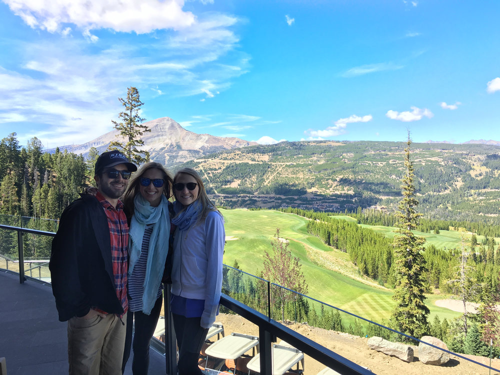 Getting a tour of the Yellowstone Club!