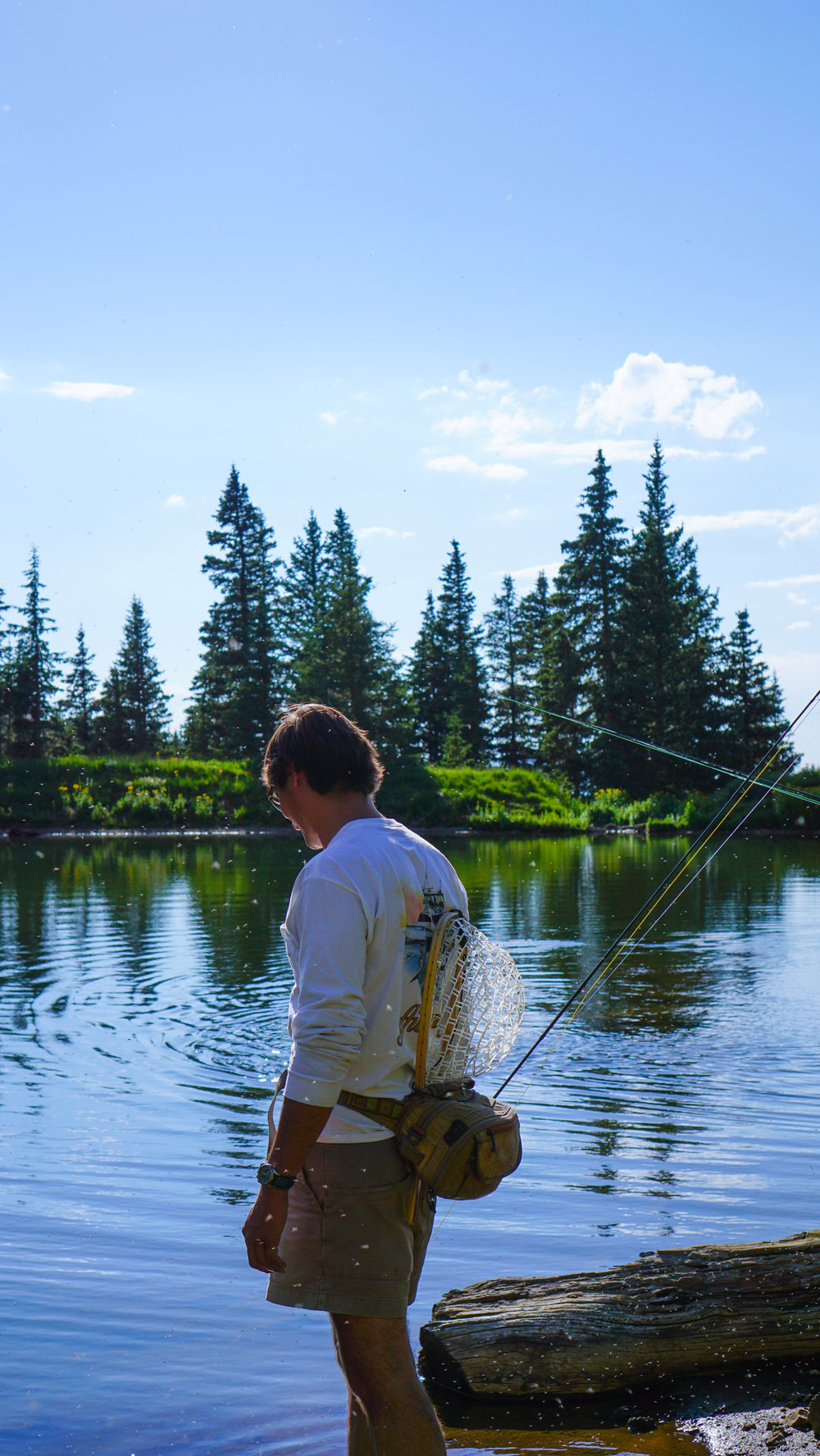 My brother had been working in Granby, CO as a fly fishing guide so he took a few days off to join us :)
