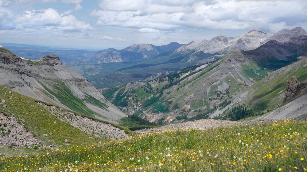 Imogene Pass Summit - elevation 13,114 ft