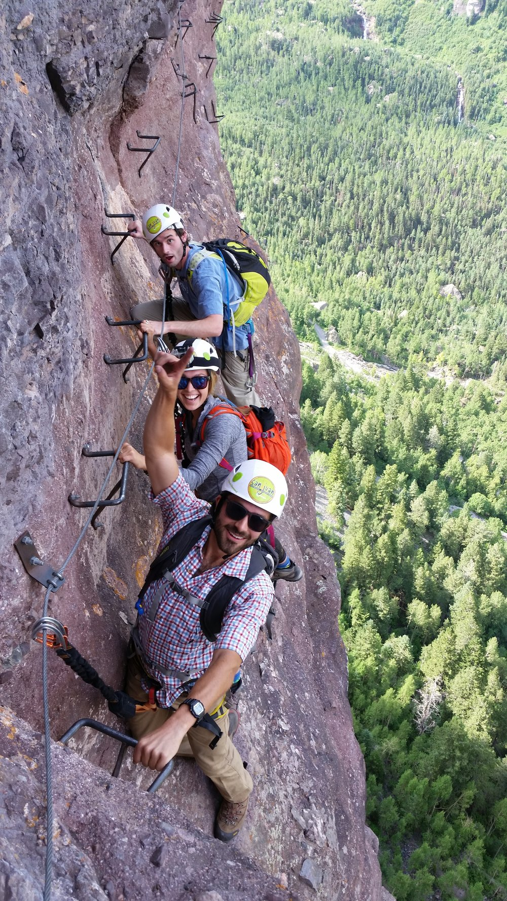 "Us on the ""Main Event"" Via Ferrata Climb"
