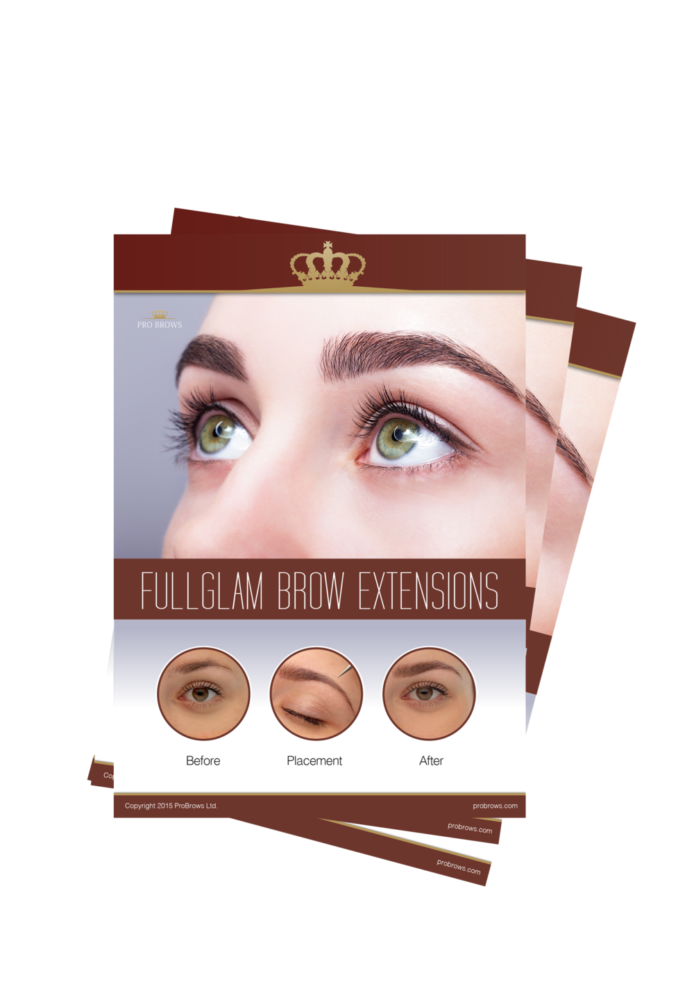 FullGlam Brow Extensions Samples.  To enable you to show your clients what will their new brows look like with FullGlam Extensions you are welcome to use these materials.