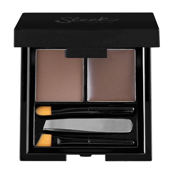 Sleek Makeup Brow Kit.  This Sleek kit never fails, it continually fleeks the eyebrows. The kit comes with shaping wax, setting powder, mini tweezers, an angled and blending brushes. The brushes could be a little bigger, but everything else makes up for that.