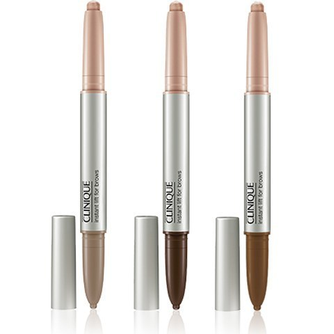 Clinique Instant Lift For Brows.  Eyebrow pencil and highlighter in one, it's a great little eyebrow pen that allows you to build on the colour. You can go from natural brows to bold brows, or to really bold, depending on what takes your fancy.