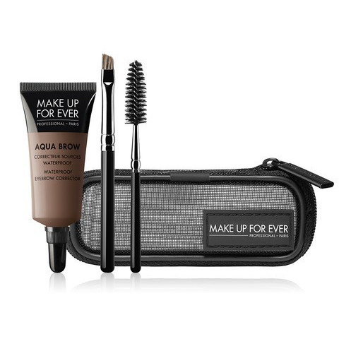 Make Up For Ever Aqua Brow Kit.  It's waterproof people! The gel is also easy to use, creates a natural looking brow and comes with a spiral brush. but best of all it's WATERPROOF!