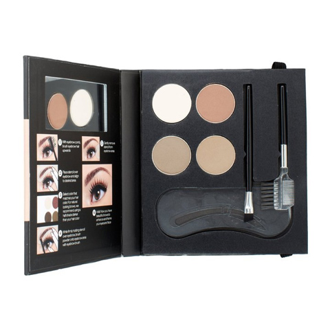 NYX Eye brow kit Set.  Eyebrow kit with added stencils, mirror and instructions, in case you are new to this eyebrow thing.