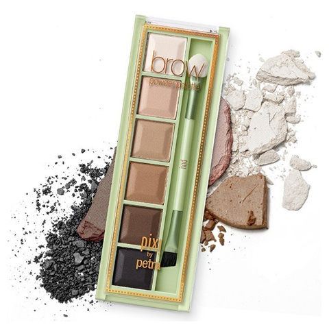 Pixi by Petra's Brow Powder Palette.  Cute packaging aside, this stuff really works. A good mix of shades so you can mix and match to your natural brow colour, and use as highlighters.