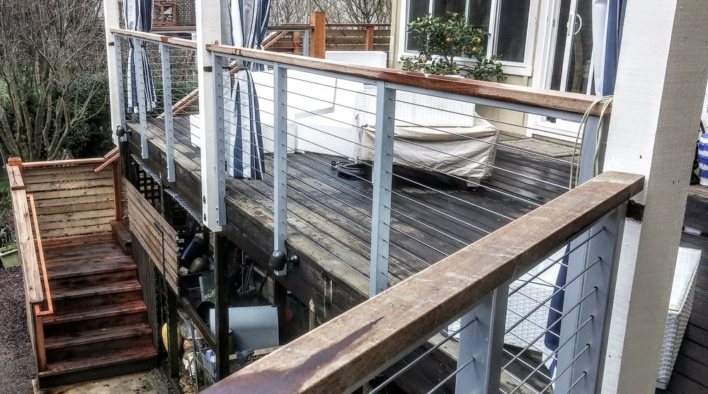Cable Railing System with Ipe Cap - Glen Ellen, CA