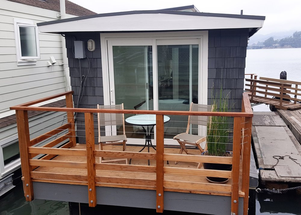 Cable Railing System with Ipe Cap - Sausalito, CA