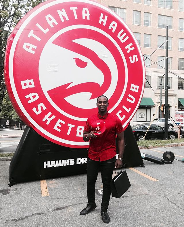 Thank you @ATLHawks for having me for the #HawksDraftParty. Congrats to @TraeYoung for being our draft picked. #TrueToAtlanta ⠀ Watch my story to see behind the scenes 👁‍🗨