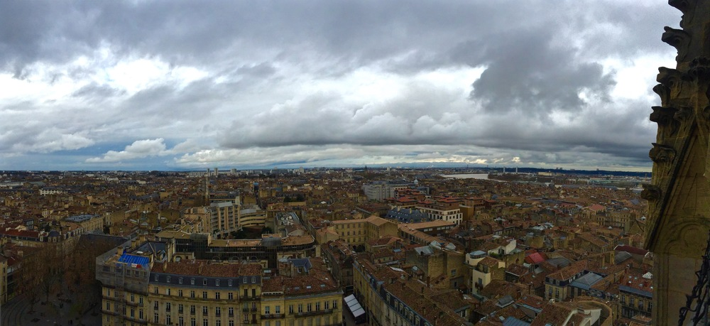 Panoramic view on top of tour Pay-Berland