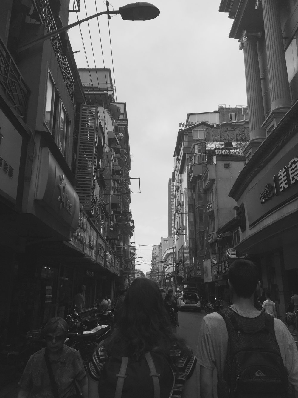 Walking the streets of Shanghai in our first day of training.