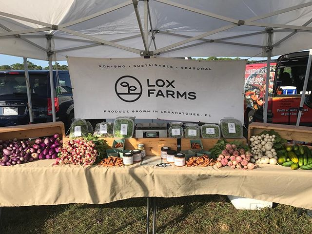 We are in Parkland and the Gardens green market today. Stop by for all your local veggies and meet farmers Aj and Justin who grew all this delicious food