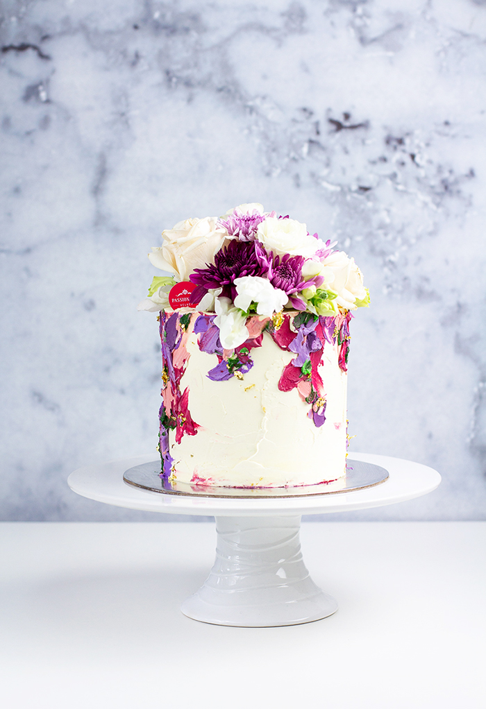 "Custom 6"" Purple Passiontree Velvet Custom Cake"