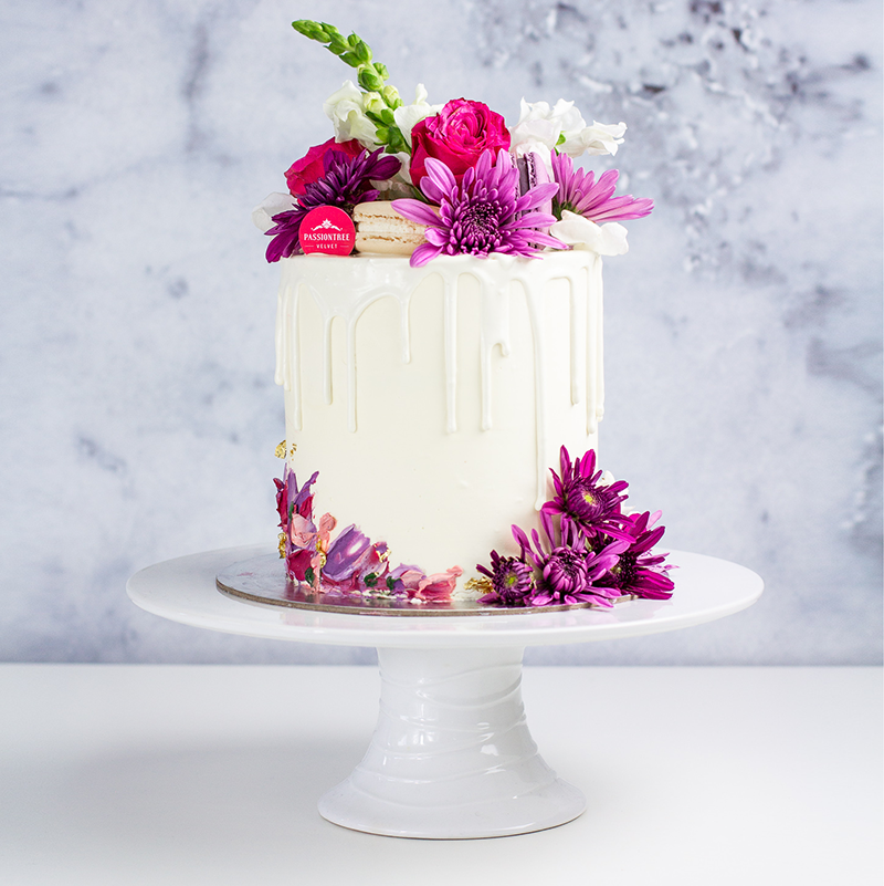 Mothers Day Exclusive Violet Bloom Birthday Cakes Custom