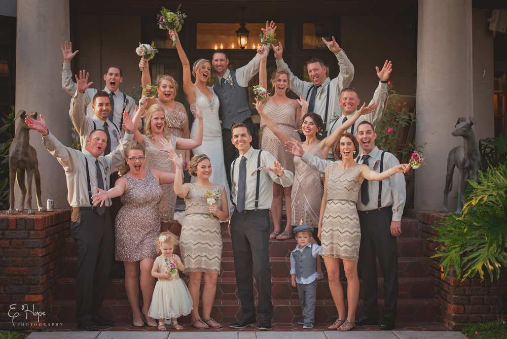 "An amazing bridal party shot right after ""I Do!""  - St Pete, FL"