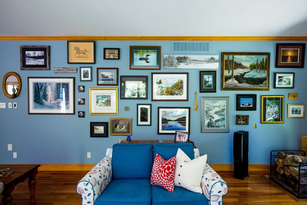 Photo via  Redstone Lake Home | Main Floor by Kaleidoscope Design Studio