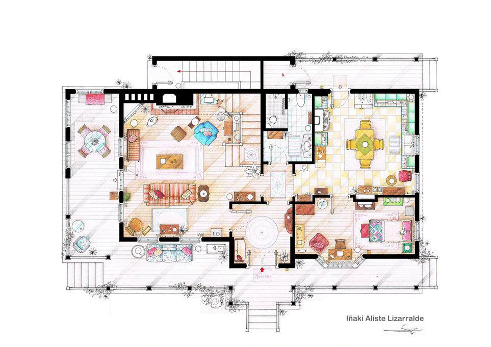 Gilmore Girls - First Floor Plan.jpg