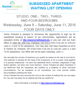 Waiting List Opening Flyer