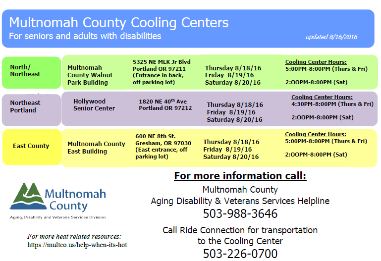 Click to view the Cooling Centers flyer