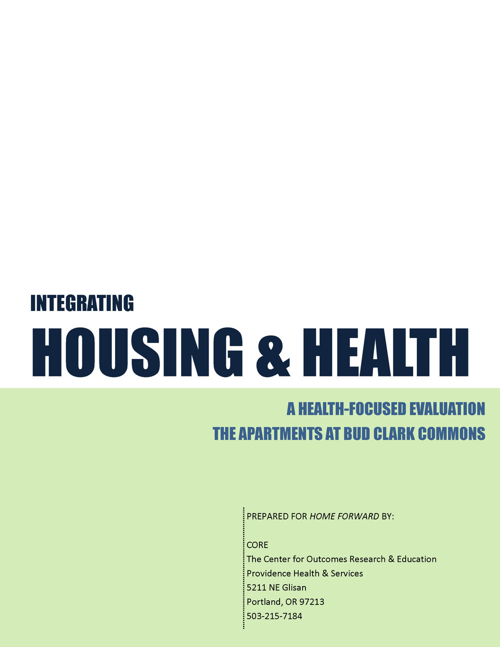Inregrating Housing & Health Report, April 2014