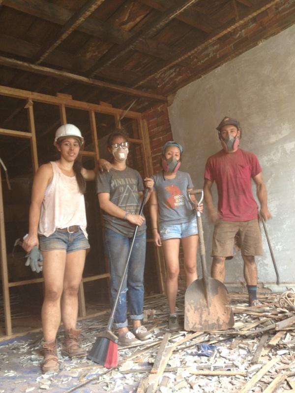 demo crew upstairs