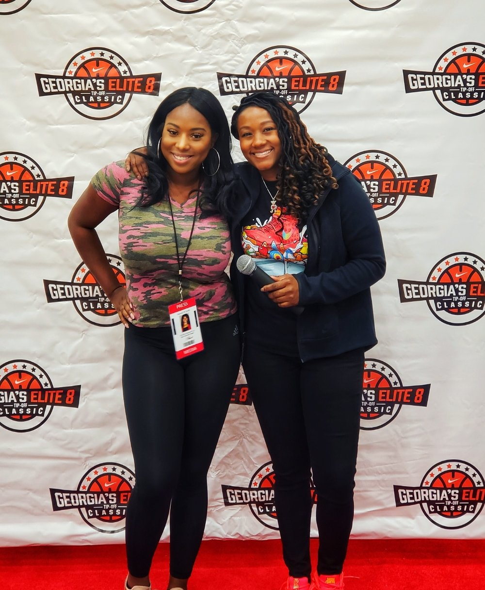 Georgia's Elite 8 Tip Off Classic - Red Carpet with Voice of Atlanta Basketball Bria Janelle