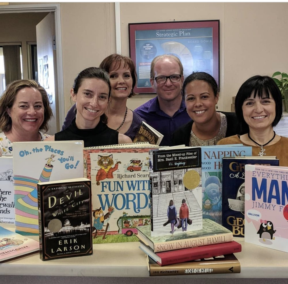 A #shelfie from the lovely folks at the San Diego County Office of Education!