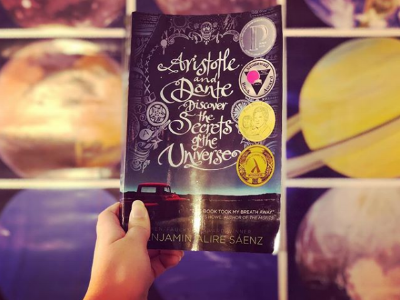 An image of  Aristotle and Dante Discover the Secrets of the Universe ! Photo credit:  sarachico