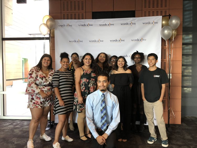 An image of the 2018-2019 Words Alive Westreich Scholars!