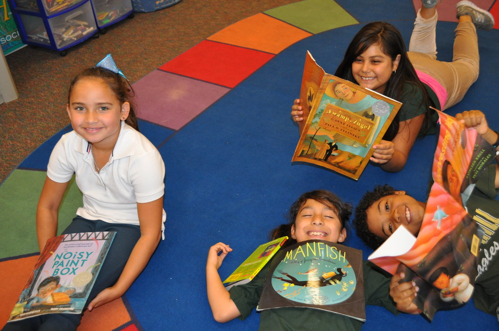 After their Read Aloud session, students read their favorite books in their 2nd grade classroom.
