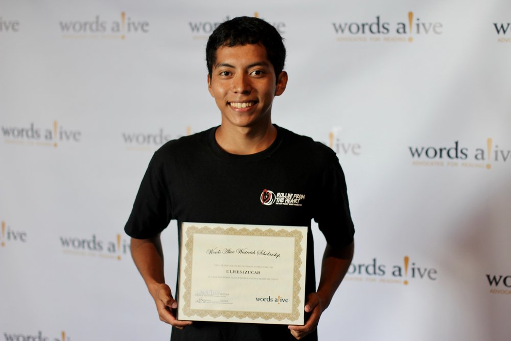 An image of Ulises at the 2018 WAWS Scholarship Award Ceremony.