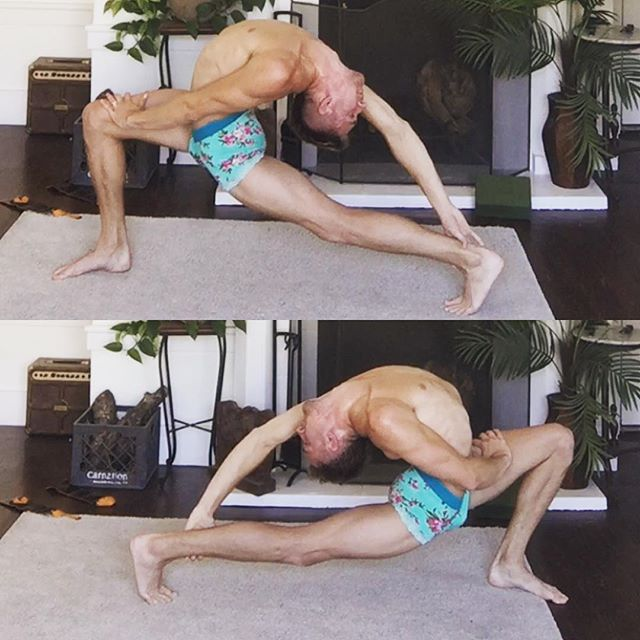 Right side vs Left side. #fitspiration #cirqueway #lunge #contortion