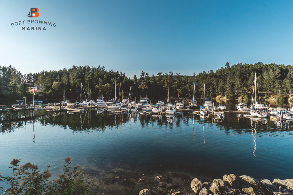 Port Browning Marina Resort ,  Pender island BC. This southern gulf Island features a full service marina, camping, outdoor swimming pool, store and two renovated and updated restaurants -  Bridgemans Bistro Port Browning  and the  Port Browning Pub  - the Islands best pub.