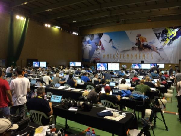 Media workroom at the 2016 Tour de France.